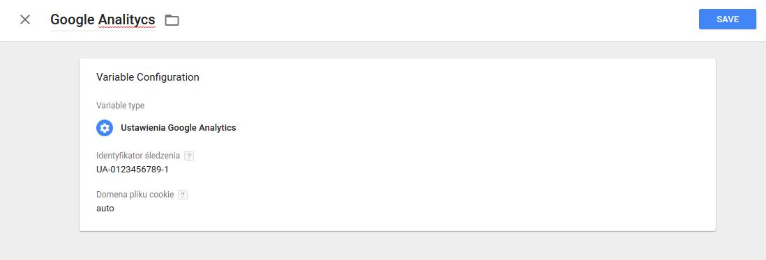 Google Tag Manager - Dodawanie do tagu identyfikatora Analytics